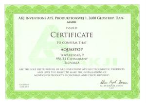Certifikát AKJ en