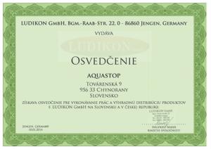 Certifikát Ludikon sk
