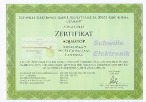 Certifikát Schwille de