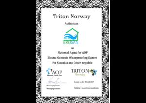 Certifikát Triton Norway en
