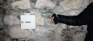 Kontrola stavu meranie vlhkosti muriva