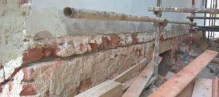 Pracovná špára elektroosmóza tehla